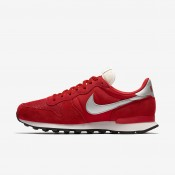 Nike internationalist para hombre rojo universitario/blanco cumbre/negro/plata metalizado_167
