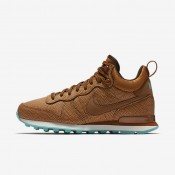Nike internationalist mid leather para mujer avellana/azul verdoso lavado/marrón barroco/avellana_320