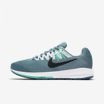 Nike air zoom structure 20 para mujer azul humeante/blanco/hiperturquesa/negro_117