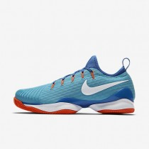 Nike court air zoom ultra react clay para hombre azul polarizado/azul medio/hipernaranja/blanco_457