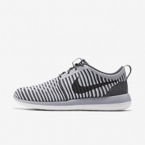 Nike roshe two flyknit para hombre gris oscuro/gris lobo/blanco/gris oscuro_687