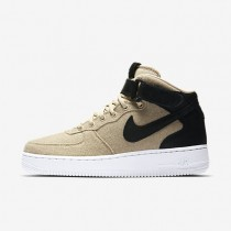 Nike air force 1 07 mid leather premium para mujer crudo/negro/crudo/negro_311