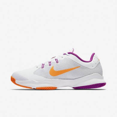 Nike court air zoom ultra clay para mujer blanco/platino puro/morado vivo/tarta_185