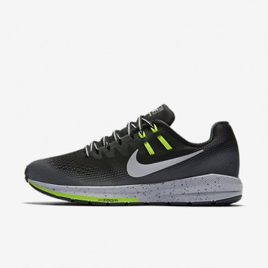 Nike air zoom structure 20 shield para mujer negro/gris oscuro/gris lobo/plata metalizado_252