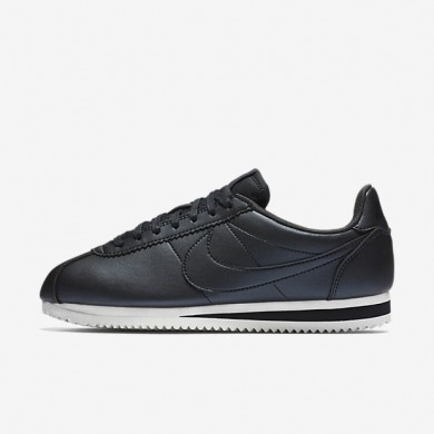 Nike classic cortez leather para mujer hematita metálico/blanco cumbre/hematita metálico/hematita metálico_275